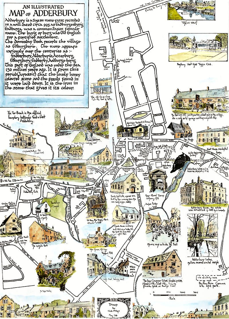 Adderbury Map Nick Allen